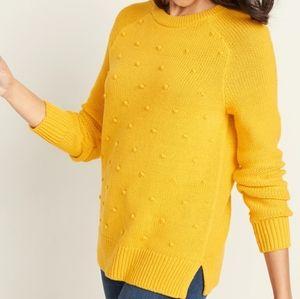 NWT Old Navy Women Mustard Yellow Sweater M